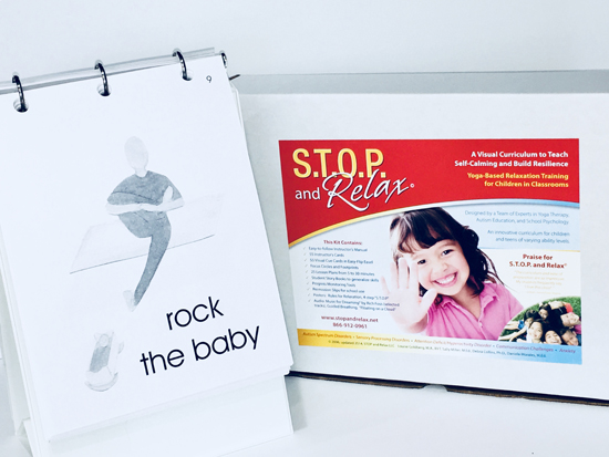S.T.O.P. and Relax© Digital Download, supplemented with Printed Cue Cards in Easy-Flip Easel